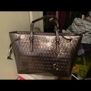 Silver Michael Kors purse